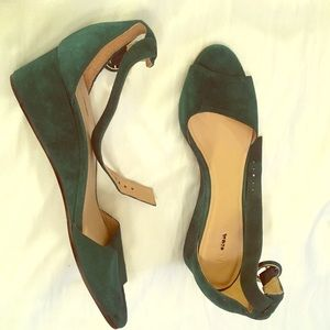 Lalla J Crew size 7 Deep Forest Green New